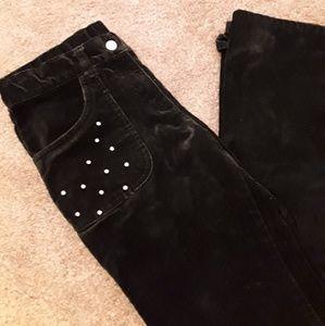 Gymboree black velvet bling jeans size 12